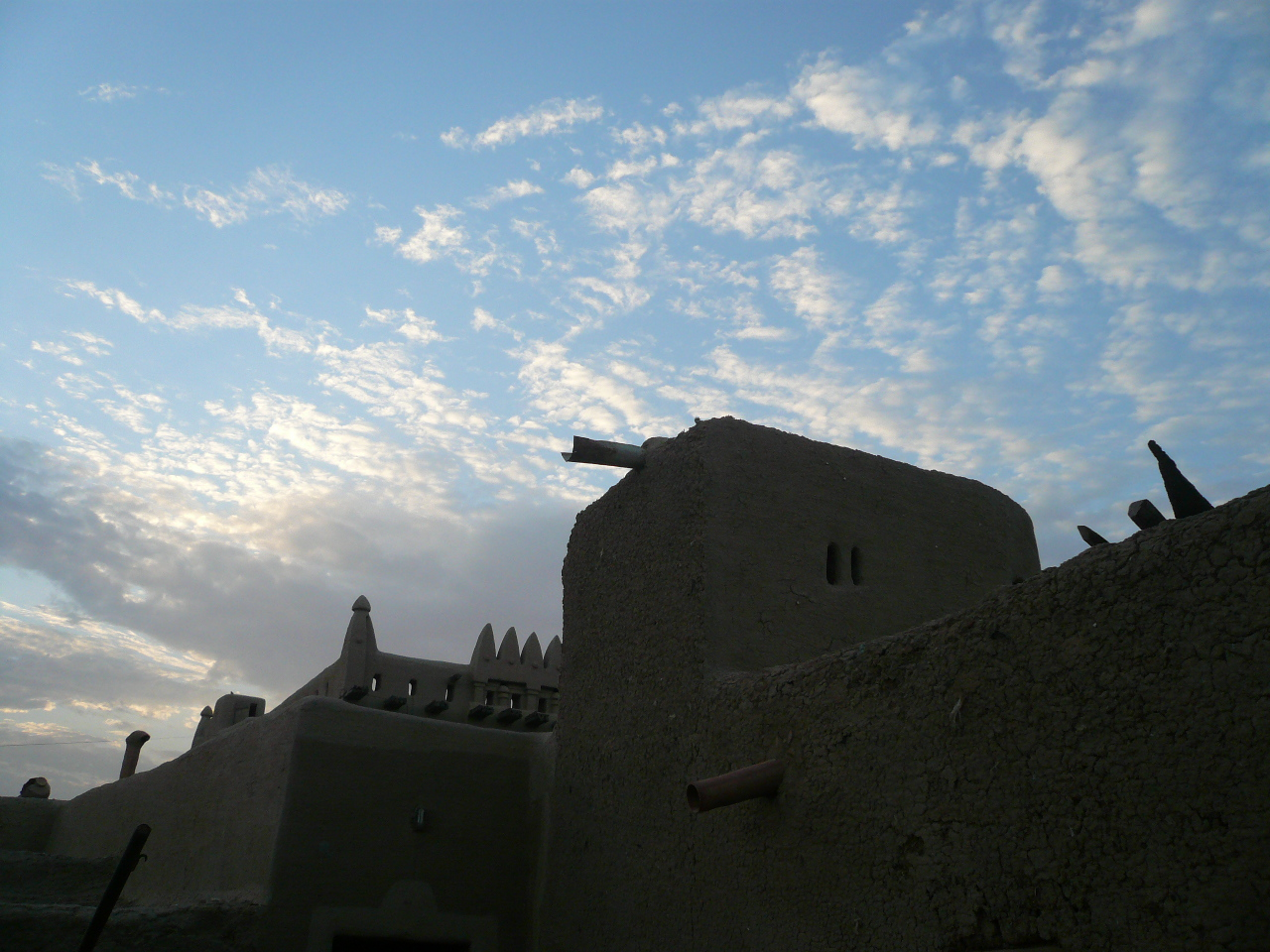 djenne mosque, morning