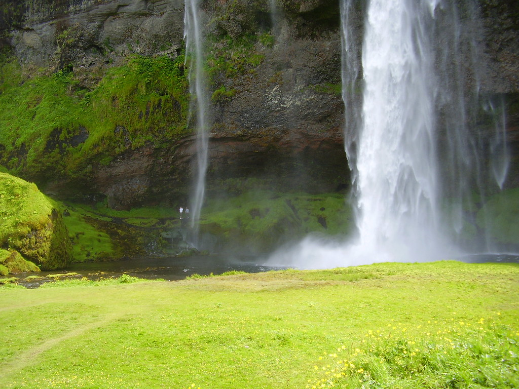 The waterfall Seljalandsfoss - In south Iceland  -  'CAN YOU SEE THE PEOPLE !' -  'THE ART OF NATURE'  - Best viewed large !