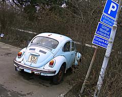 Ystad - Blue Beetle (kalle_ost) Tags: volkswagen skne sweden parking beetle sverige scania ystad
