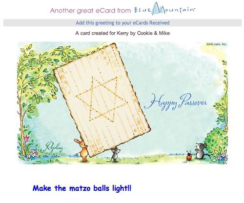 Make the matzo balls light!!