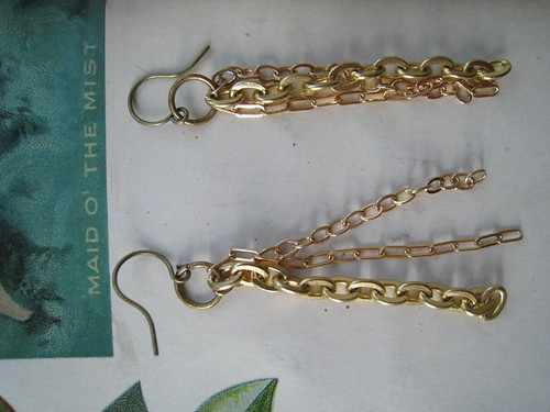 Gold Linked earrings