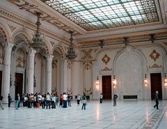 The_grand_hall_in_the_second_largest_building_in_the_world (PMJ104) Tags: romania palaceoftheparliament