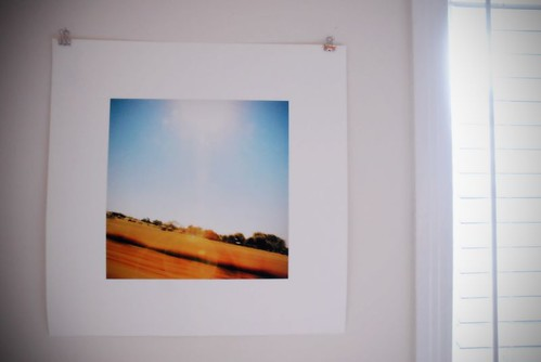 Recent print of a landscape I shot from a car.