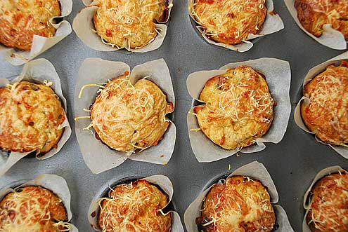 Cheese & Sun Dried Tomato Muffins