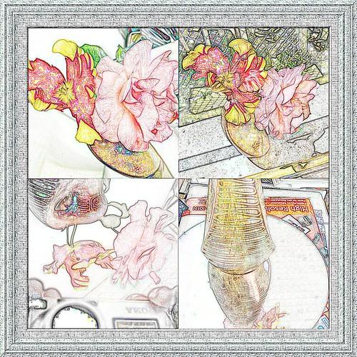 collage cadre dessin
