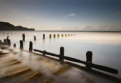 Sandsend, North Yorkshire (Corica) Tags: uk longexposure greatbritain beach landscape coast britain yorkshire tripod northsea northyorkshire groynes sandsend sigma1020mm gettingwet misting dapa corica canon400d dapagroup dapagroupmeritaward