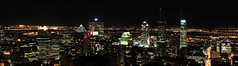 Montreal Night Pano (venuslandscape) Tags: city urban canada classic night lights quebec montreal mountroyal mtrl lovelycity