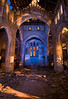 Light-Painting an Angry God (Noel Kerns) Tags: city abandoned church night ruins first indiana gary methodist