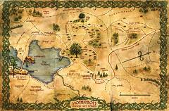 ephemera - Hobbiton brochure, inside (Jassy-50) Tags: ephemera hobbiton newzealand map illustratedmap brochure northisland theshire lordoftherings lotr thehobbit movieset movie hobbit hinuera