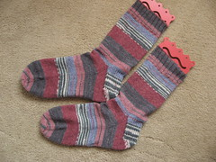 Andy's Dreamcatcher socks finished
