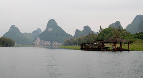 Bamboo boat on Li River
