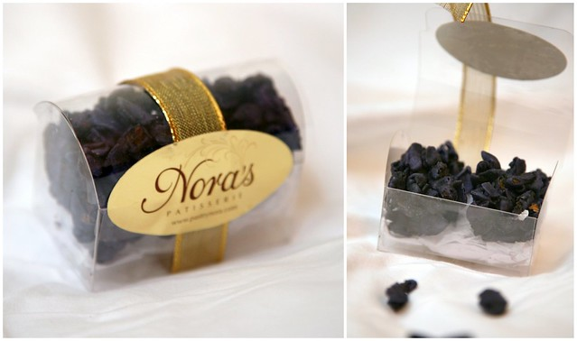 candied violets from nora's patisserie