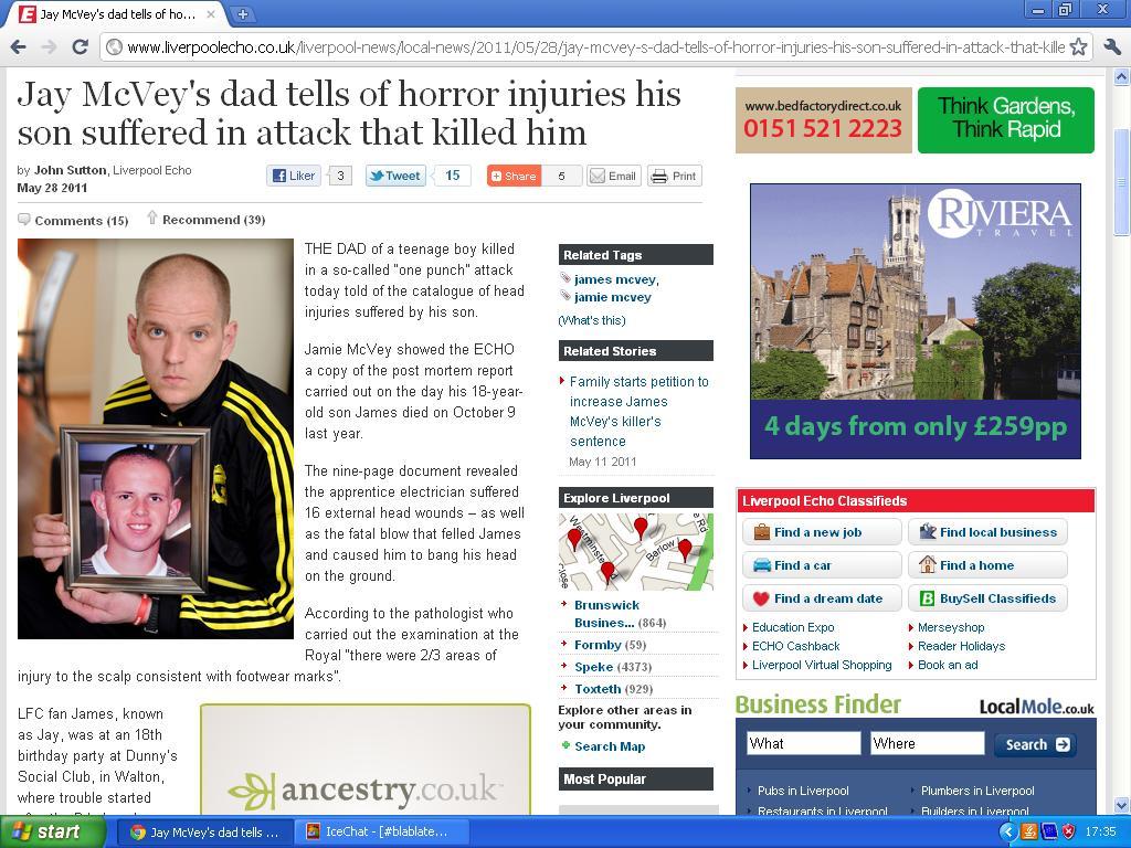 liverpool supporter slått ihjel