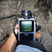 Hasselblad through viewfinder