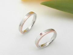 イニシャルが浮かび上がる結婚指輪  Pink and White Gold Combination Ring (jewelrycraft.kokura) Tags: wedding ring ruby 指輪 pinkgold 結婚指輪 whitegold コンビ ルビー ピンクゴールド マリッジリング ゆびわ ホワイトゴールド