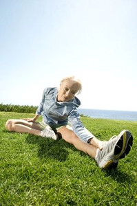 Senior woman exercizing