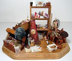 Attic Scene 1:12 Scale Dollhouse Miniature