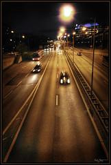Getting home (Kaj Bjurman) Tags: road cars night eos driving sweden stockholm soe hdr kaj globen gullmarsplan cs3 photomatix 40d shieldofexcellence bjurman