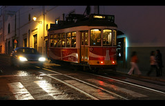 (rougerouge) Tags: street night lisboa lisbon tram 28 169 tramway electrico filmformat