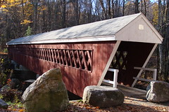 11-4-07 Covered bridge near Brookline, NH (mister pitchers) Tags: newengland newhampshire coveredbridge brookline nissitissit
