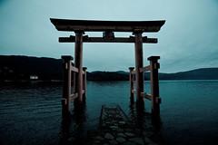 Hakone Torii (jauderho) Tags: original topv111 japan canon  5d kanagawa hakone torii 2007   1635mm  jauderho hakonejinja japan2007 dopplr:trip=19467