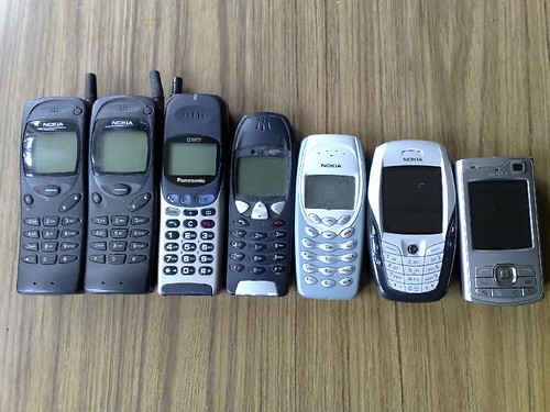 Mobile phones through the ages