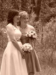Amy and Sarah (Dan and Amy G) Tags: california park wedding groom bride grove cedar bouquet chico bidwell
