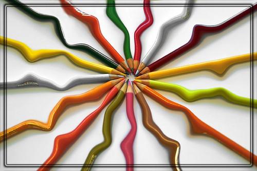 Colour pencils by shapour bahrami.