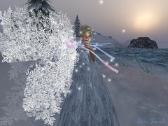 The Snow Fairy (Angie is Arlo) Tags: life winter woman white snow ice beauty female poetry magic fairy fantasy secondlife blonde second mystical capture arlo mystic enchanted 2007 fae unedited windlight straylight benelli firsttheearth arlobenelli
