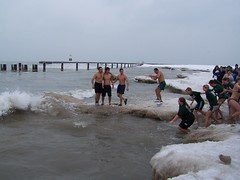 Polar Bear Plunge New Years Day (7r) (dalumetal) Tags: bear park new chicago ice beach swim day north millenium 2006 bean reflect years polar avenue 2008 refreshing chill plunge