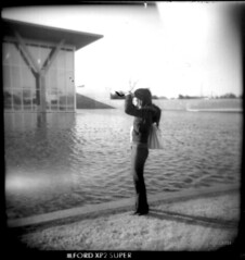 holga, the modern and nori (fake_plastic_earth) Tags: bw 120 6x6 film museum architecture analog mediumformat print japanese holga texas candid tx toycamera architect dfw contactsheet ftworth emotions ilford plasticcamera nori themodern tadaoando noriko 120n  scannedprint  bwfilm     japanesearchitect ilfordxp2super120   ftwortharchitecture modernmuseumofftworth 01moo