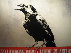 Cuervo (Dr Case) Tags: madrid bird art stencil exhibition pantarhei noaz