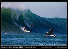 Mavericks Surf Contest 2008 - Greg Long & Jamie Sterling Final Heat (jimgoldstein) Tags: california surf contest wave surfing surfboard 2008 halfmoonbay mavericks maverickssurfcontest greglong jmggalleries jimmgoldstein jamiesterling