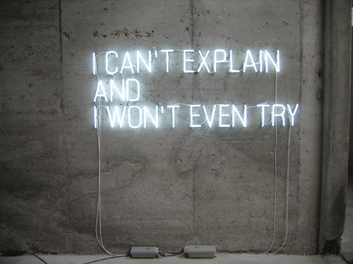 I Can't Explain And I Won't Even Try / Stowe Boyd