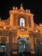 (Alice's Asylum) Tags: lighting india church festive lights cathedral decorative tamilnadu pondicherry puducherry