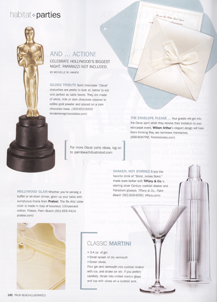 Palm Beach Illustrated stationery feature