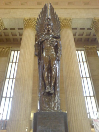 Statue in Philly's 30th st station
