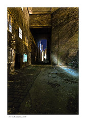Moonlight in the Alley (Ian Bramham) Tags: night photography photo long exposure fineart stockport moonlight ianbramham