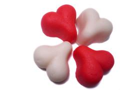Valentine Marzipan Hearts I