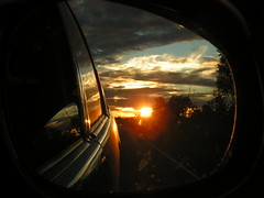 SUNSET BY CAR