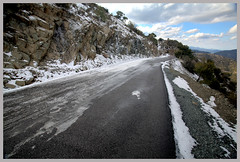 / frozen road , Cyprus (-Filippos-) Tags: road winter snow cold forest cyprus  mywinners     makherasforest machairasforest
