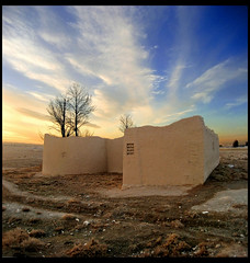 A Story of Past (Alizadeh100) Tags: old sunset sky nature past toos khorasan tous