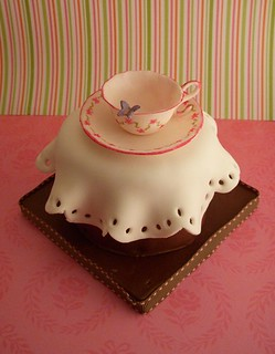 Mini-cake with teacup