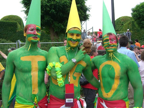 Togo body paint at World Cup 2006