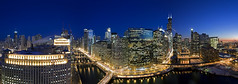 Chicago River Bend (Tom Rossiter) Tags: chicagoarchitecture chicagopanorama