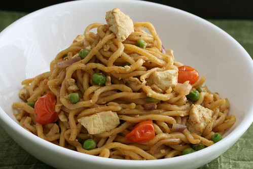 Curry Tofu Noodle Stir-Fry