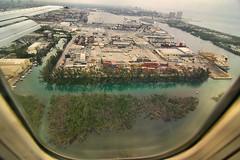 Landing on Water (Oblivious Dude) Tags: plane airplane canal florida tokina1224 landing fl ftlauderdale