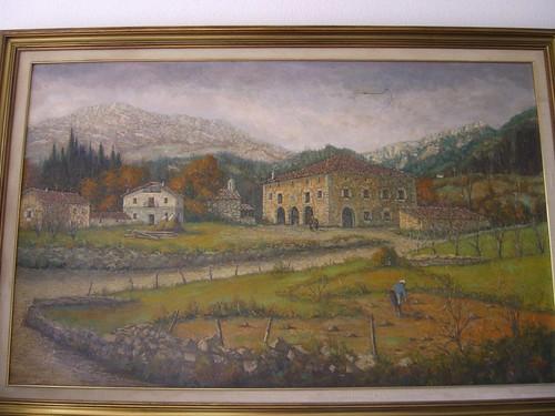 Oil Painting of Etxe Aundi