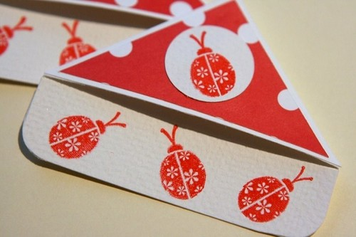 ladybug corner bookmark there is no place like home handmade card paper crafting 2301