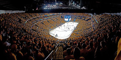 """Gold Out"" Arena View (Paul Nicholson) Tags: panorama color ice cup hockey yellow out gold nhl nikon nashville angle crowd wide bridgestone panoramas center arena deck upper stanley rink playoffs cheer tshirts dslr stitched predators dx upperdeck 303 sommet d90 explored cellblock303"